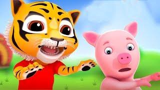 Eeny Meeny Miny Moe  | rimas em português | músicas infantis | Farmees Português | Canções dos miúdo