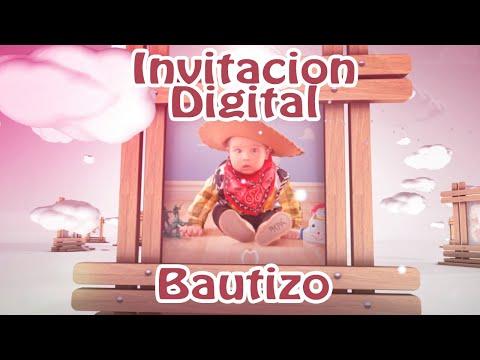 Invitación en Vídeo - Bautizo Nubes
