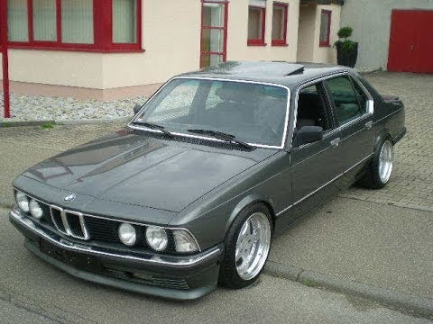 Brutal BMW 745i E23 exhaust sound  YouTube