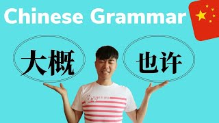 Chinese Grammar 大概 V.S. 也许 (HSK4)