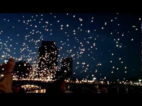 Sky Lanterns!! Art Prize Grand Rapids Michigan 2012