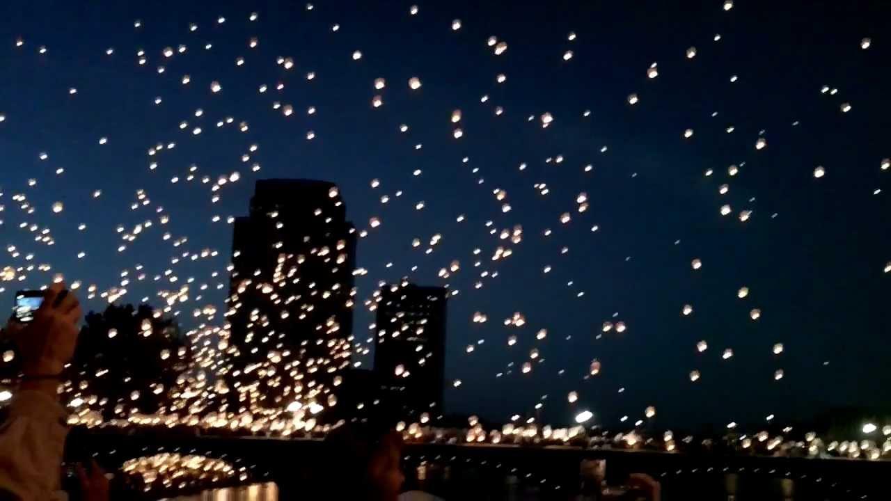 Sky Lanterns Art Prize Grand Rapids Michigan 2012 Youtube