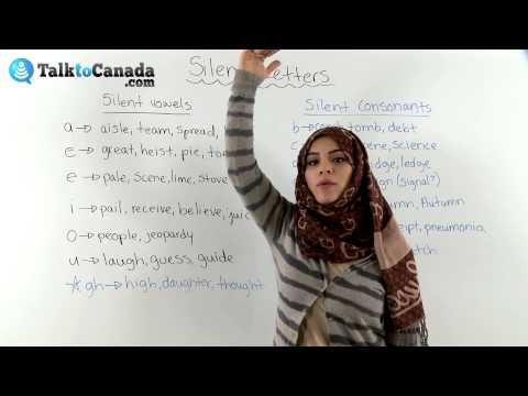 Learn About Silent Letters in English including Silent Vowels and Silent Consonants