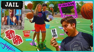 GIANT REAL LIFE BASKETBALL TRICK SHOT BOARD GAME! Pt. 2