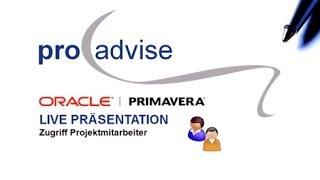 Oracle Primavera P6EPPM für Projektmitarbeiter