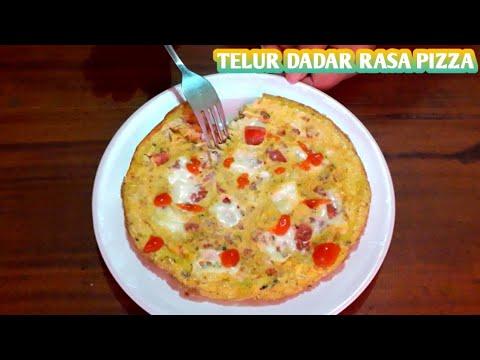TELUR DADAR RASA PIZZA | OMELET TELUR