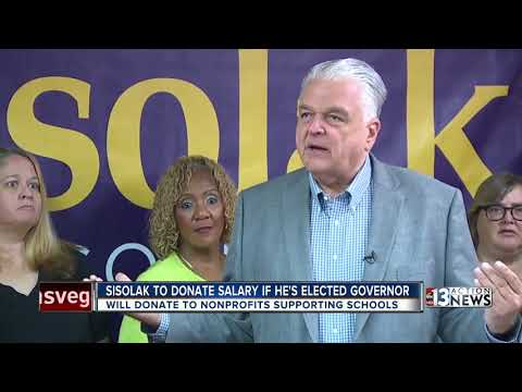 Steve Sisolak won't take a salary if elected governor