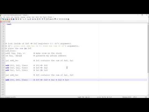 MIPS Programming Tutorial:  Stacks and Procedures thumbnail