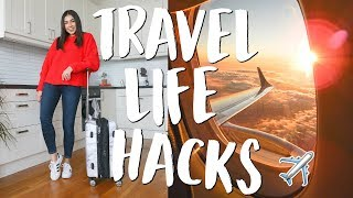 connectYoutube - My Top 22 Travel Life Hacks & Tips! | Jeanine Amapola