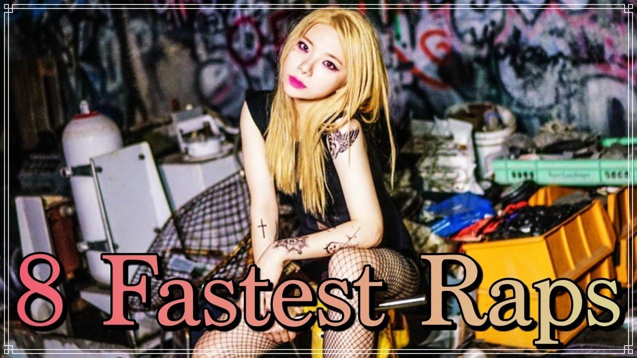 8 Fastest Tymee Raps Fastest Female Korean Rapper Youtube