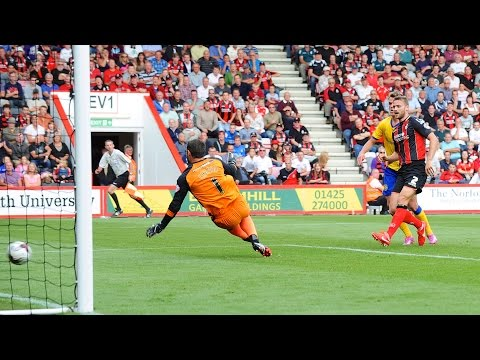 Reverse angle | Simon Francis doubles the lead against Wigan Athletic