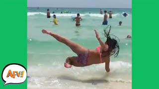 Surf's DOWN For This GIRL! 😅 | Funny Fails | AFV 2019