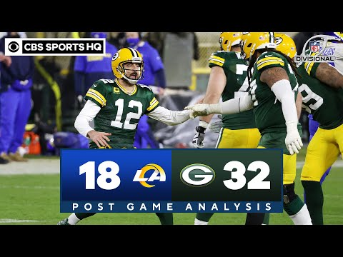 Rams vs Packers: Rodgers outlasts gutsy effort by Goff | NFL Divisional Round | CBS Sports HQ