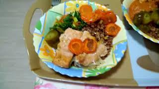 Горбуша запеченная в духовке с гречкой на ужин.