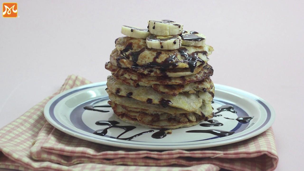Bánh ngon dễ làm – Cách làm bánh Pancake chuối thơm ngon đơn giản