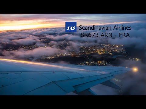 Scandinavian Airlines 737 Stockholm to Frankfurt full flight