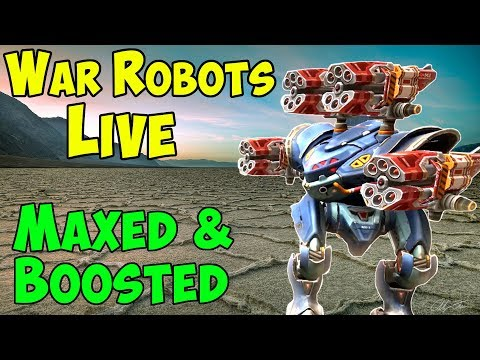 Max level & All Boosters OP Hangar - 2 Hours War Robots Gameplay WR