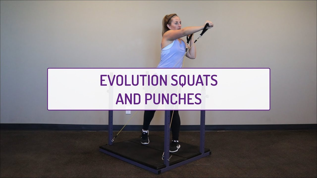 Home Exercises | Evolution Squats and Punches | Strength & Cardio | Legs & Shoulders