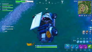 Fortnite BR Season 5 - What happens when you drive a Golf Cart (ATX) through a new portal.