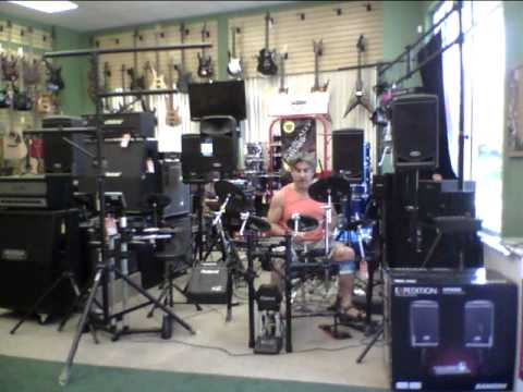 'Z Music Store' Flagler Beach, Florida. Demo of  Roland TD-4 Drums & PM-10 Personal Monitor
