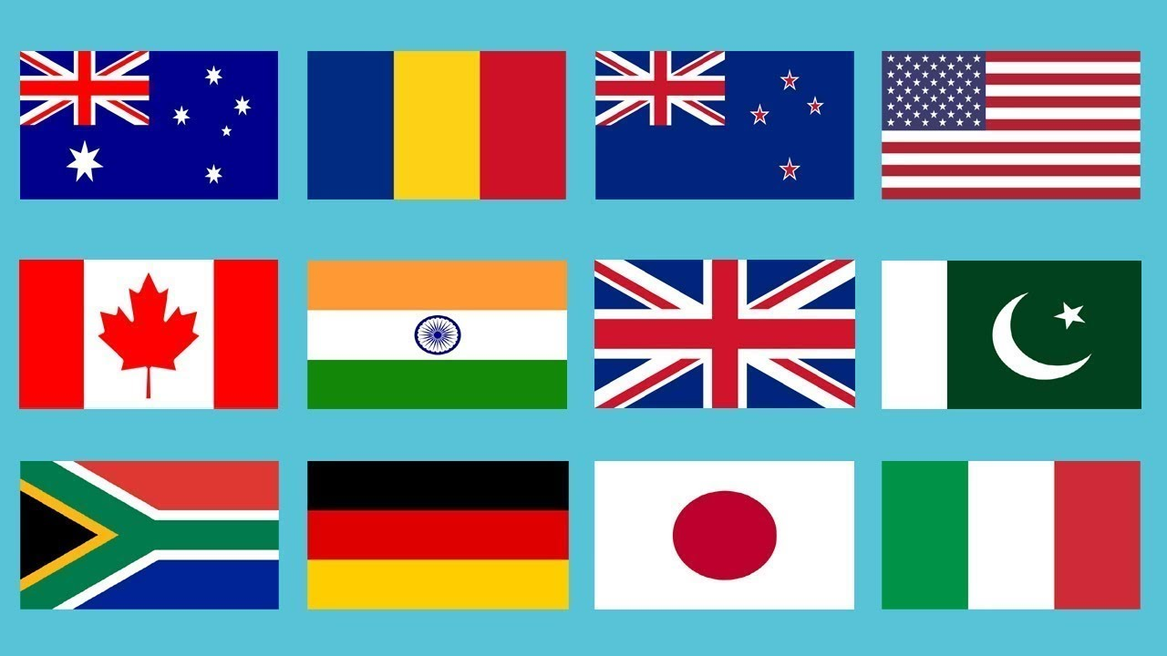 All Country Flags With Names In The World 2019