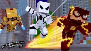 Minecraft: HOMEM ARANHA BRANCO Ep.12 FLASH NA VELOCIDADE DA LUZ !!