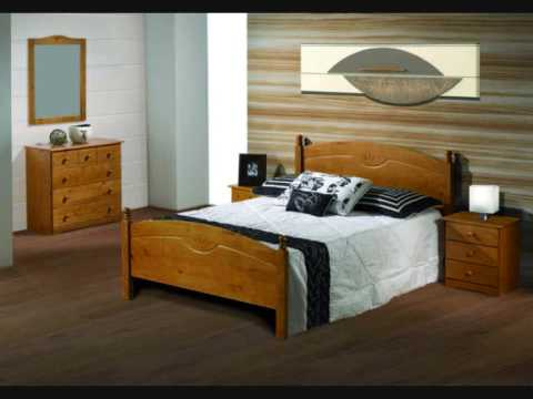 Dormitorios rusticos muebles salvany youtube for Camas rusticas