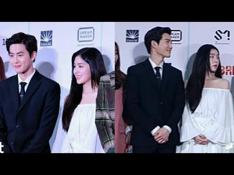 irene & suho &nct & snsd ..smtown live in dubai press conference