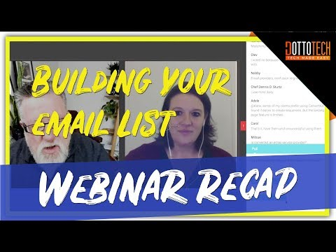 Building Your Business, Building you List – Webinar Recap