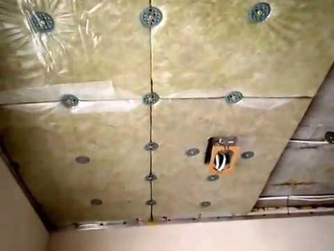 звукоизоляция под натяжным потолком