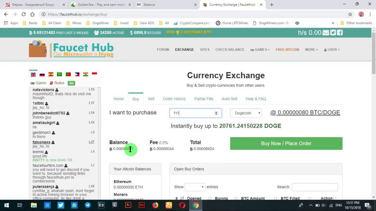 Part 2 Exchange btc to dogecoin in faucethub