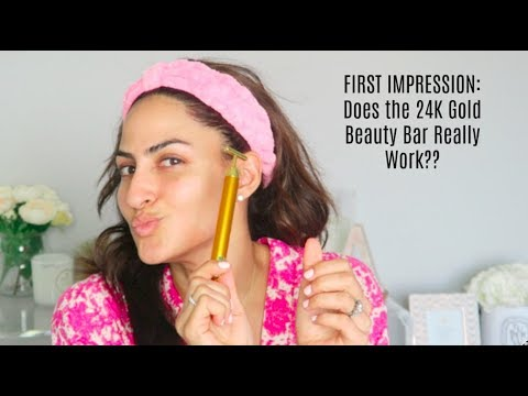 FIRST IMPRESSIONS: DOES THE 24K GOLD BEAUTY BAR REALLY WORK?