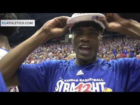 Jayhawks celebrate a 13th consecutive Big 12 title // Kansas Men