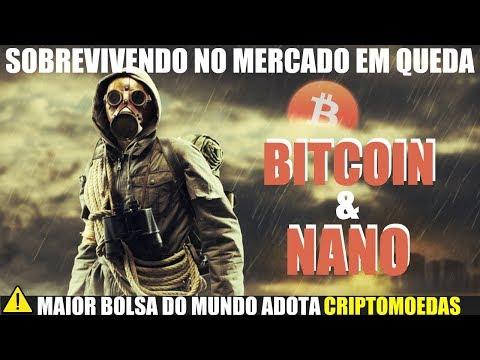 BITCOIN e NANO: Sobrevivendo no Mercado em Queda. OKEx Causa Queda e Bolsa de NY Adota Crypto