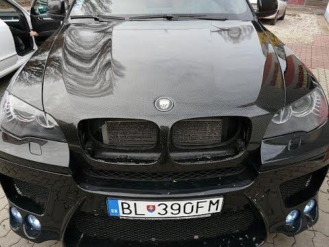 Bmw X6 Car Wrapping Real Black Carbon Film Zmena Farby Vozidla