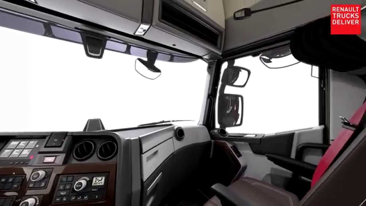 Renault trucks t 3d interieur youtube for Renault range t interieur