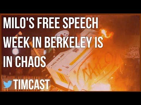 MILO'S FREE SPEECH WEEK IN BERKELEY IS IN CHAOS