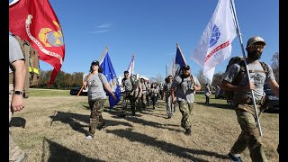 Alabama student veterans walk 151 miles for suicide awareness