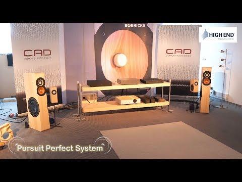 CAD Computer Audio Design Boenicke Speakers @ High End Munich 2018 HiFi Show
