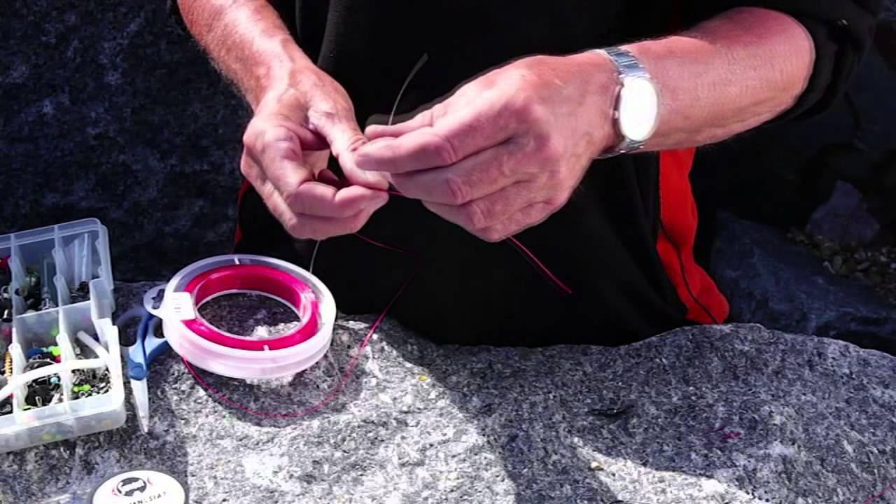 Alan yates on 3 basic sea fishing knots from fishtec youtube for Fishing knots youtube