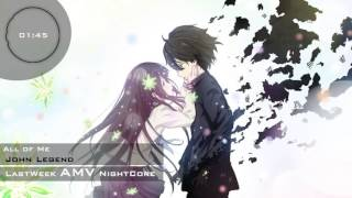 [NightCore] All of Me -  John Legend Max Schneider and Zendaya Cover