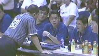 Dondon Hontiveros - Yeng Guiao collision (SMB vs Red Bull, Game 6 semifinal, 02/07/2007)