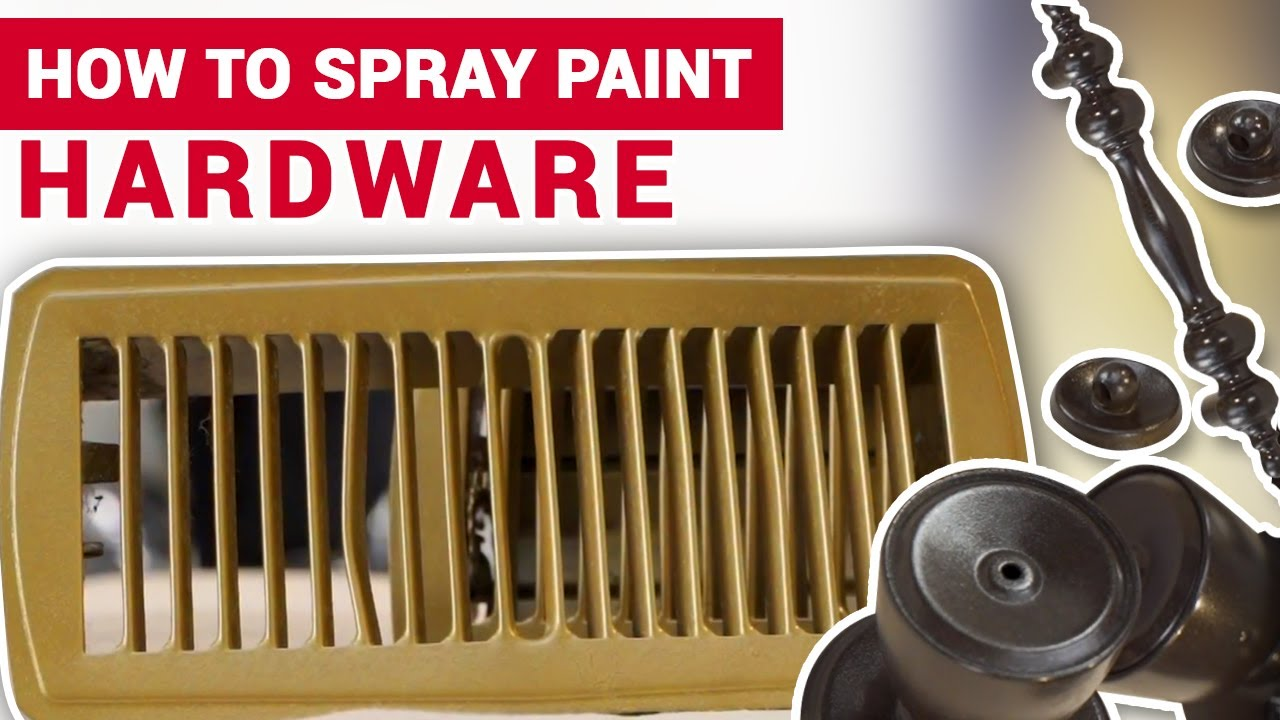 How To Spray Paint Hardware Ace Hardware Youtube