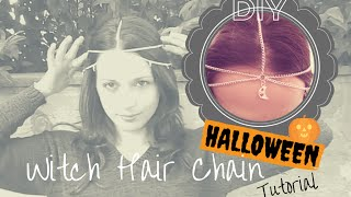 HALLOWEEN DIY ☾ Witch Head Chain ✬ Jewelry Making TUTORIAL