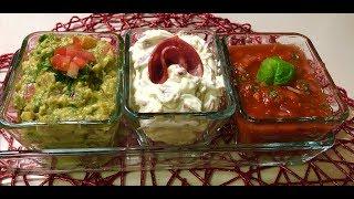 3 types of dips #  ثلاث انواع من الصلصات الشهيه المرافقه لكل انواع الشيبس والناتشوز
