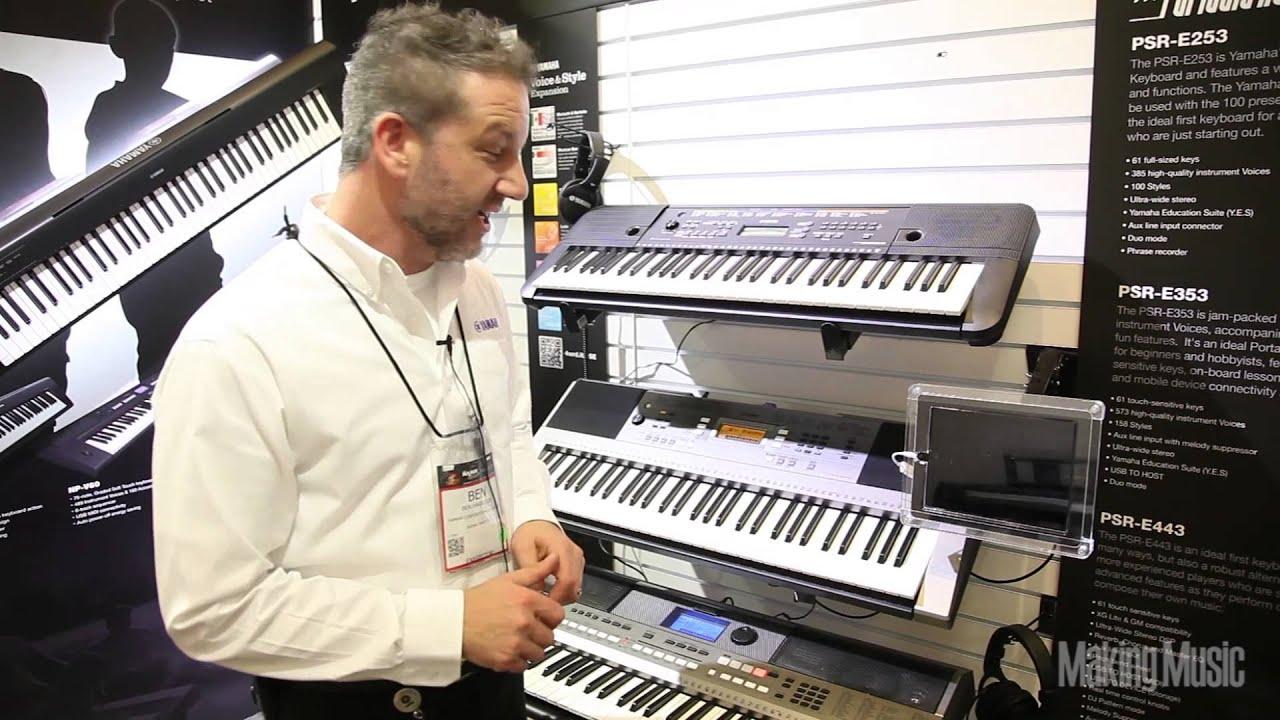 Yamaha Portable Keyboards Psr E253 Psr E353 Review Youtube
