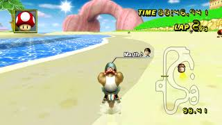 [MKWii TAS]  GCN Peach Beach Flap - 21.999 (no-glitch)