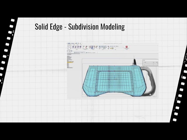 Solid Edge 2021 Subdivision Modeling Video EN