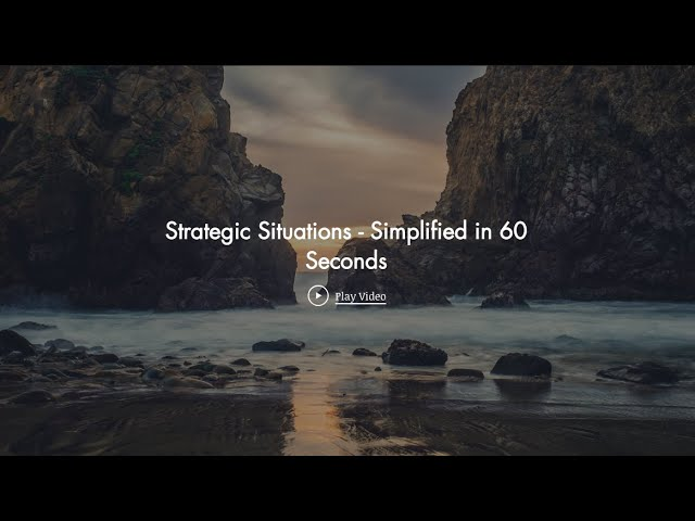Strategic Situations - Simplified in 60 Seconds