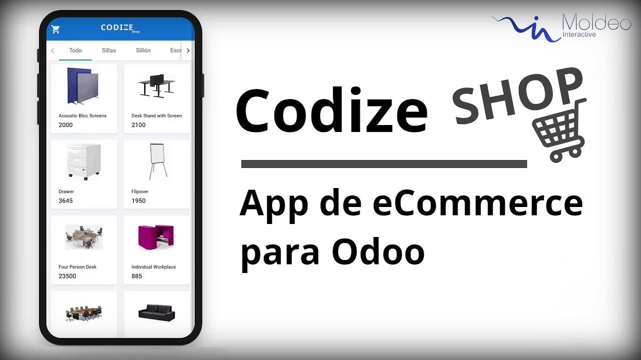 Codize Shop - App de eCommerce para Odoo